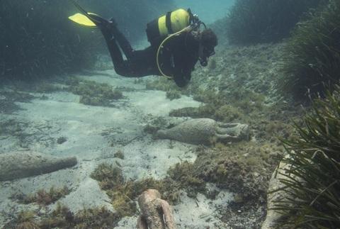 Bautizo de buceo arqueológico en Begur
