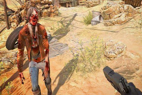 Mata a zombies mediante la realidad virtual