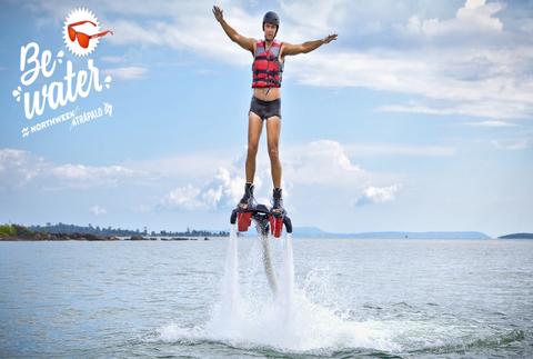 #BeWater: ¡vuela sobre el mar con flyboard!