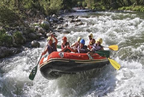 Rafting o barranquismo en el Noguera Ribagorçana