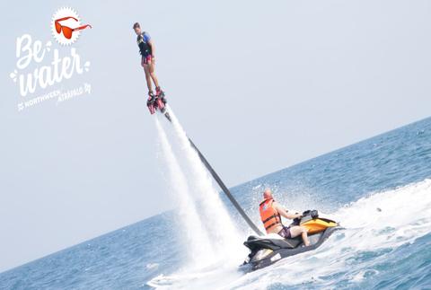 Flyboard en el Port Olímpic, elévate a 12 metros