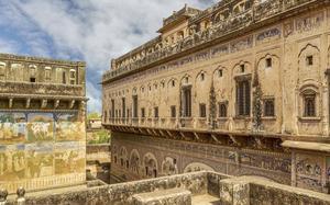 Frescos en un antiguo palacio de Shekhawati