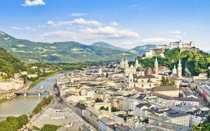Salzburgo desde el aire
