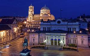 Plaza del Parlamento de noche