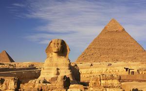 Pirámide de Khafre y esfinge