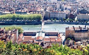 Vista aérea de Lyon