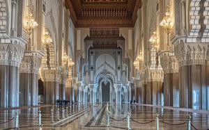 Interior de la Mezquita Hassan