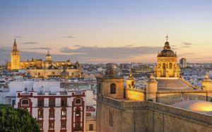 Panorámica atardecer Sevilla