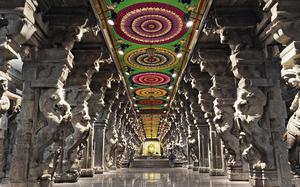 Interior del Templo Meenakshi