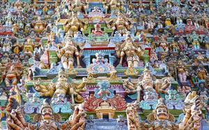 Exterior del Templo Meenakshi