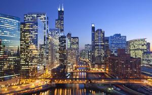 Skyline de Chicago de noche