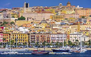 Panorámica de la ciudad de Cagliari