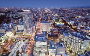 Panorama nocturno de Sapporo