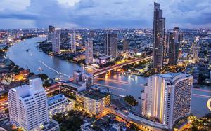 Panorámica de Bangkok por la noche