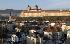 Abadía de Melk en invierno