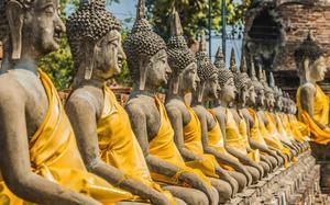 Estatuas de budas en Wat Yai Chai