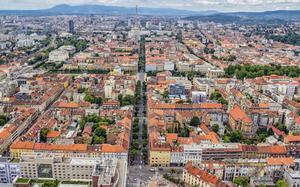 Vista aérea de Zagreb.