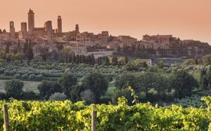 Atardecer en San Gimignano
