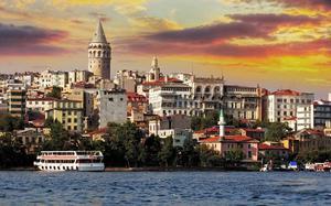 Panorámica de Estambul al atardecer