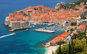 Vista aérea de la costa de Dubrovnik