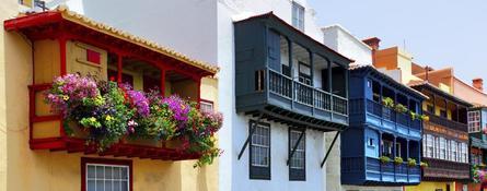 Casas coloridas de La Palma