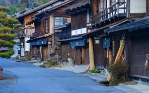 Calle residencial de Tsumago