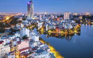Panorámica de Hanoi de noche