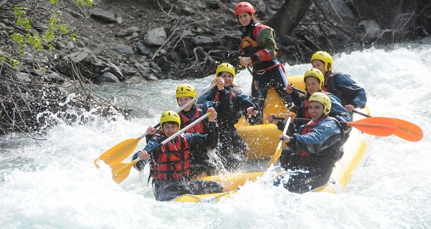 Rafting Llavors�-Sort, recorrido de 20 km