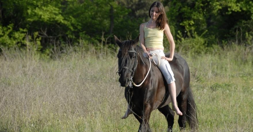 Paseo a caballo y tiro con arco