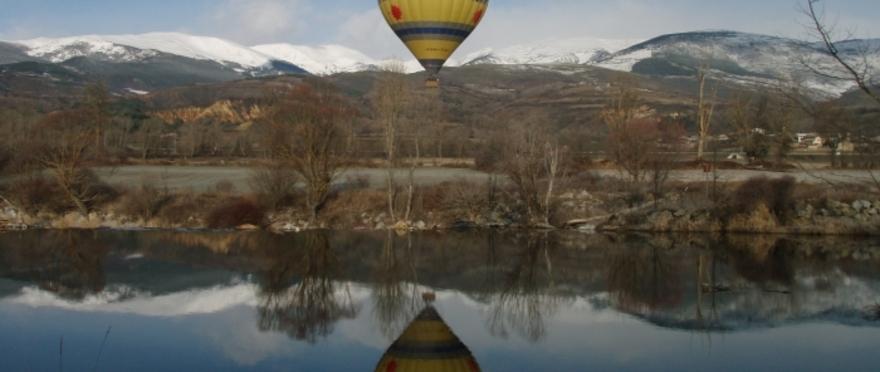 Vuelo en globo en el valle del Segre