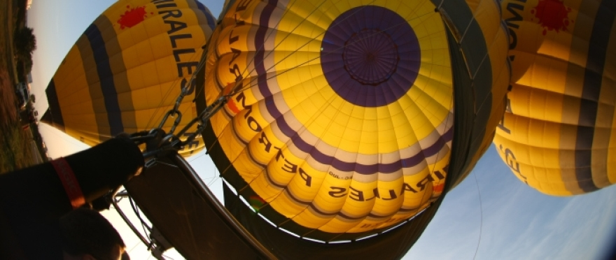 Vuelo en globo desde la ciudad de Lleida