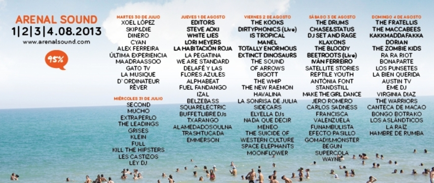 Arenal Sound 2013, cartel