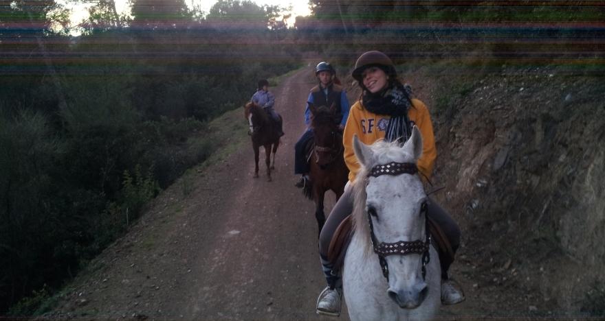 Excursi�n a caballo por Cervell�
