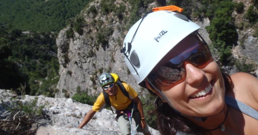 V�a ferrata + rapel en Montserrat