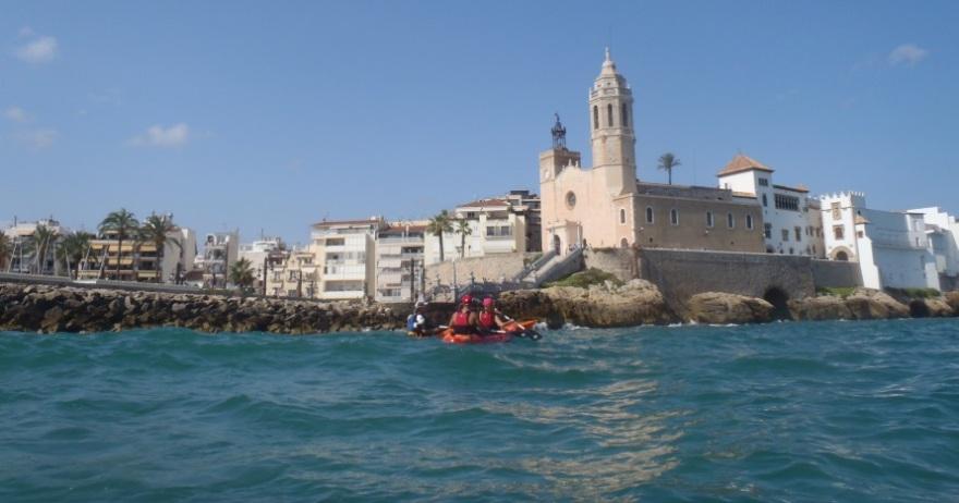 Excursi�n en kayak Punta de Sitges