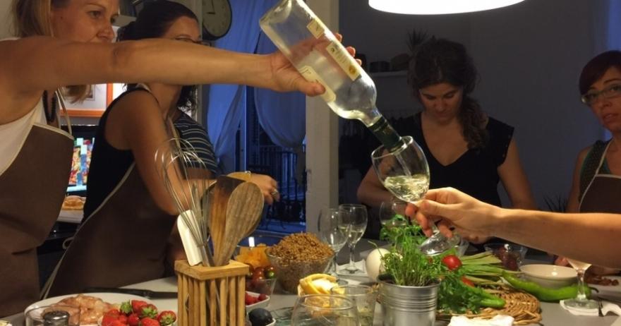 taller de cocina mediterr nea en pla a reial 20 dto
