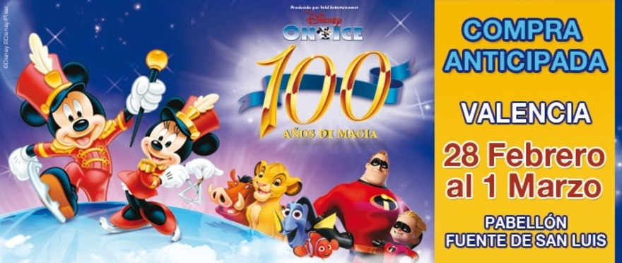 Disney On Ice - 100 a�os, en Valencia