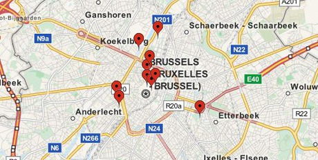 ver mapa paris bruselas: