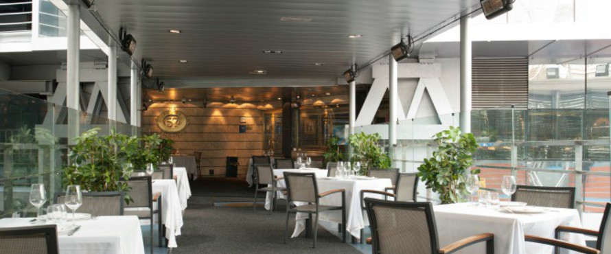 Restaurante puerta 57 estadio santiago bernab u madrid for Puerta 53 bernabeu