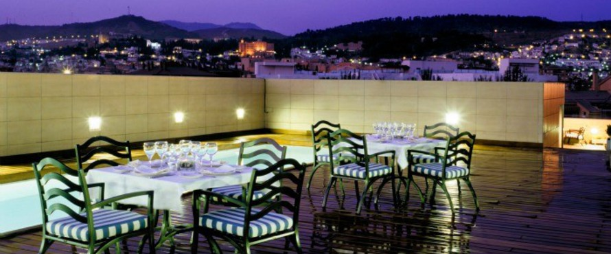 Restaurante terraza barbacoa hotel andaluc a center for Casa de granada terraza madrid