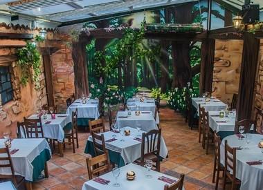 Restaurante la ancha zorrilla madrid for Jardin prohibido letra