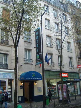 Hotel jardins de paris montmartre paris paris ile de for Hotel des jardins paris