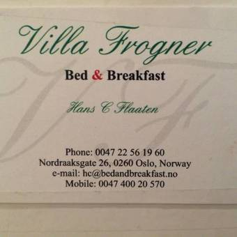 Villa Frogner Bed & Breakfast