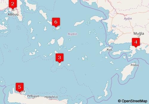 Islas Griegas Atenas Santorini Marmaris Chania Y Mykonos